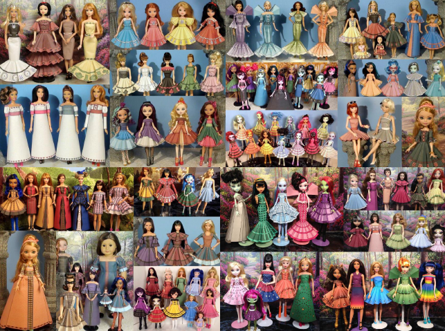 Printable Doll Clothes Volumes 1 2 3 4