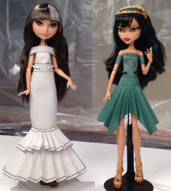 Cerise Hood and Cleo De Nile in Printable Doll Clothes Royal Birthstones