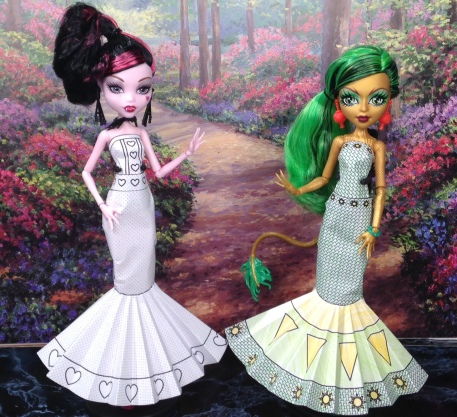Printable Doll Clothes Jinafire Long and Draculara