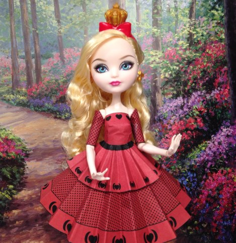 Apple White Queen of Hearts Printable Doll Clothes