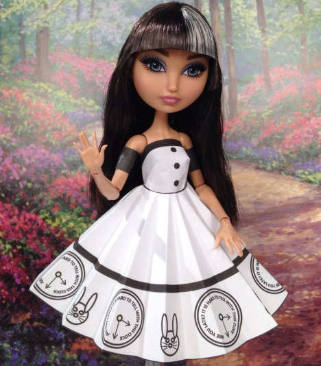 Cerise Hood White Rabbit Printable Doll Clothes