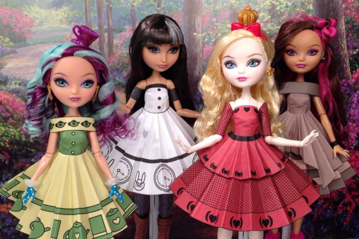 Ever After High Wonderland Printable Doll Clothes