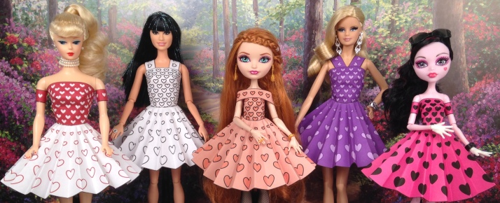 Printable Doll Clothes Sample Dresses